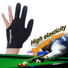 Three Finger Billiard Glove Spandex Cue Snooker Hand Pool Left Black Accessory