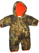Columbia baby boys camo Snuggly bunny bunting Snowsuit 0 - 3 months retail $95