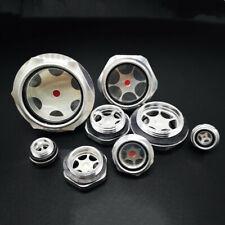 1pc Metal Dia Oil Level Sight Glass For Air Compressor Aluminum Threaded New