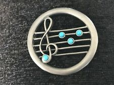 1 NEW ORLEANS MUSIC G Clef  Musical Symbols PEWTER PIN ALL NEW.