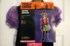 Cutie Witch Girl's Halloween Costume (Large) - Totally Ghoul - New with Tag