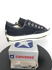 Vintage 1970s Converse All Star Chuck Taylor Black Heel Tab Made in USA Sz 3.5