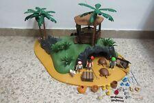 Playmobil - Piratas - Antigua Isla del Tesoro Pirata Cabaña - 3799 - (COMPLETO)