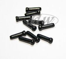 10 Bremszug- Schaltzug Endkappen für Bremsseil Schaltseil  schwarz