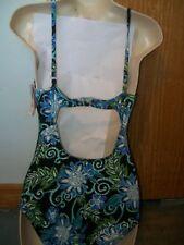 Style & Co. one piece bathing swimsuit swim suit  10 tummy control multicolor
