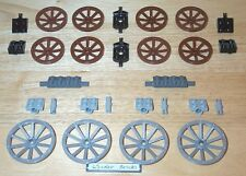 Lego Wagon Wheels Bulk Lot 2 Colors & Sizes 7092 Castle