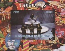 Los Beatles Republique du Congo Miniatura Menta sello Imperforado Sheetlet 2013
