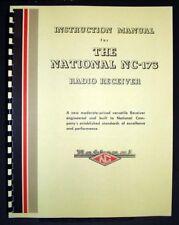 National NC-173 NC173 Radio Receiver Manual