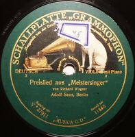 ADOLF SENS Preislied Meistersinger WAGNER Cavatne von Raff (1922) Violin 78rpm