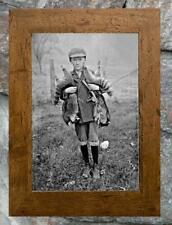 "Chaming ... Boy Holding Racoons & Trap ... Antique 8""x12"" Photo Print"