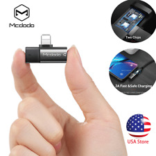 2 in1 Dual Lightning Adapter Charging Splitter Audio Cable For iPhone XR XS Max