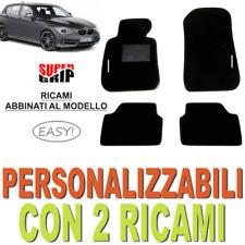 PER BMW SERIE 1 F20 F21 TAPPETI AUTO SU MISURA IN MOQUETTE E GOMMA 2 RICAMI EASY
