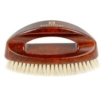 FootFitter Executive Handled Shoe Shine Brush- Brown Bristles