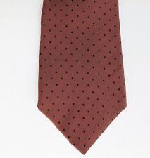 Gino Pompeii polka dot tie bronze silk black spots Made in Italy IMPERFECT