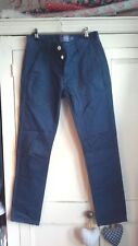 Topman blue skinny chinos trousers men boys waist 28 leg 30 slim fit