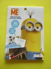 Despicable Me Mini Sticker Activity fun Book 70 stickers 12 color play scenes