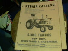 Repair Catalog R 2112b G 1000 Tractors Minneapolis Moline