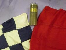 Vintage British Rail Detonator Tin Case Brass Plaque BR & Flags