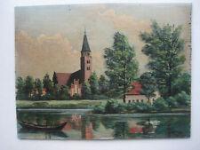 Brandenburg an der Havel Dom St. Peter und Paul Ölgemälde Biedermeier Ölbild