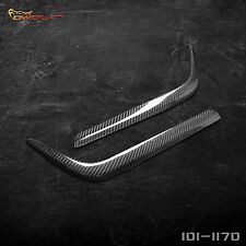 Real Carbon Fiber Eyebrows Eyelids Headlight Cover Trim for Mercedes Benz W202