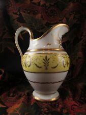 ancienne verseuse pichet pot lait porcelaine de paris dorée epok XIXe st empire