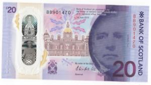 BANK OF SCOTLAND £20 NOTE PREFIX  BB 901470  UNCIRCULATED FREEPOST UK