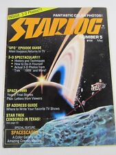 Starlog Issue #5 May 1977-Color Photos- Space 1999;Star Trek; Don Dixon;3-D