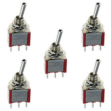 5 x On/On Mini Miniature Toggle Switch Model Railway SPDT