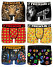 FREEGUN Lot de 6 Boxers Microfibre Shorty Homme Mix1