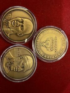 1998 Bulls 6 Champs 3 coin set Highland Mint Michael Jordan Scottie Pippen #1530