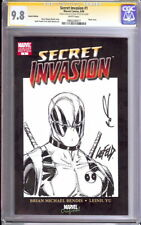 SECRET INVASION 1 CGC 9.8  ROB LIEFELD SKETCH DEADPOOL RARE DOMINO NEW MUTANTS