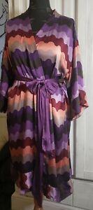Missoni Lindex Beautiful Elegant Silk Wrap Dress Size M