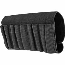 Rifle Buttstock Ammo Cartridge Holder Shell Holster Carrier Black Elastic Nylon