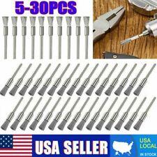 5-30pc Wire Wheel Brushes Stainless Steel Die Drinder Dremel Rotary Tool Set pen