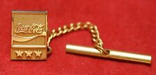 "COCA-COLA - 10K GOLD SERVICE AWARD TIE TACK PIN ""3 Stars"" - Nice"