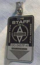 CUSTOM ARKHAM FULL ACCESS BADGE CARD PROP BATMAN DARK KNIGHT