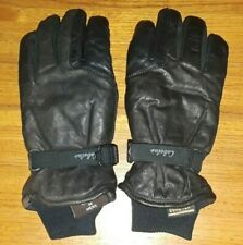 Cabelas brownish-black lined leather Gore-Tex gloves mens M