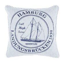 Kissenhülle - Kissenbezug Ocean Hamburg - blau weiss ca 45x45 cm - ohne Füllung