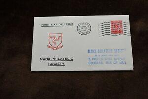 1969 Pre-decimal Isle of Man First Day Cover, Manx Philatelic Society