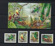 China Taiwan 2006 八色鳥 Conservation of Bird stamps + S/S