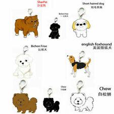 Animal Pet Dogs Key Chains Husky The Poodle Boxer Bulldog Pendant Metal Keyring