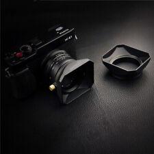 37 39 40.5 43 46 49 52 55 58mm Square Shape Lens Hood Cover Screw Mount