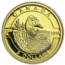 2014 Canada 1/10 oz Proof Gold $5 Canada Goose (w/out Box) - SKU #83325