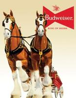 Budweiser Clydesdale Horse Team Retro Tin Metal Sign 13 x 16in