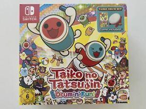 Taiko no Tatsujin Drum n Fun! Taiko Drum Set Collector's Edition Switch Brand Ne