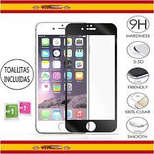 Protector Pantalla Cristal Templado para iPhone 6 Plus / 6S + 5.5 Negro