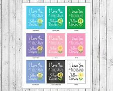 GILMORE GIRLS, I LOVE YOU a THOUSAND YELLOW DAISIES, PRINT Poster 9 Color Styles