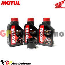TAGLIANDO OLIO + FILTRO MOTUL 7100 10W30 HONDA 650 NT HAWK GT 1991