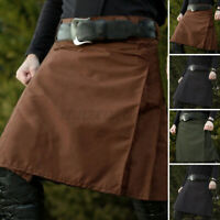 UK Mens Medieval Steampunk Kilt Vintage Scottish Kilt Skirts Party Stag Costume