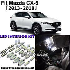 10 x White Interior LED Light Package Kit for 2013 - 2016 2017 2018 Mazda CX-5
